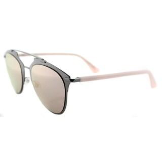 Dior Dior Reflected/S XY2 0J Dark Runthenium Pink Metal Aviator Rose Gold Mirror Lens Sunglasses