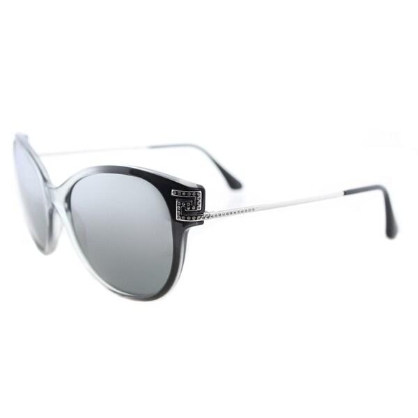e86a33e63766 Versace VE 4316 520088 Greca Rock Icons Transparent Grey Gradient Black  Plastic Cat-Eye Silver