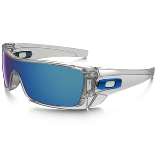 Oakley Batwolf 0OO9101910107 Men's Polished Clear Frame Ice Iridium Lens Sunglasses
