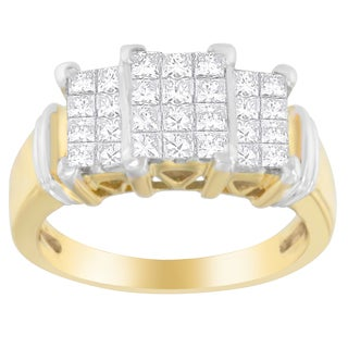 14k Yellow Gold 1ct TDW Princess-cut Diamond Ring