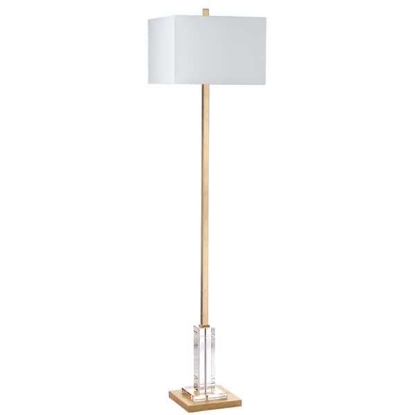 Safavieh Lighting 68-inch Talon Antique Gold Metal Crystal Floor Lamp