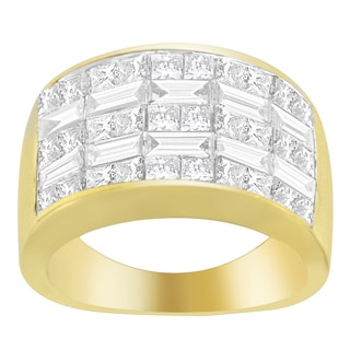 14K Yellow Gold 2 1/2ct. TDW Princess and Baguette-cut Diamond Ring (H-I, SI1-SI2)