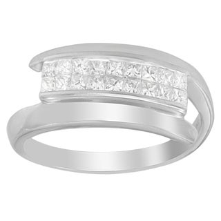 14k White Gold 1/2ct TDW Princess-cut Diamond Ring