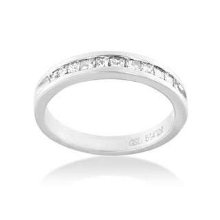 18k White Gold 1/2ct TDW Princess Diamond Ring (G-H, SI1-SI2)