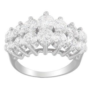 14k White Gold 3 7/8ct TDW Diamond Ring