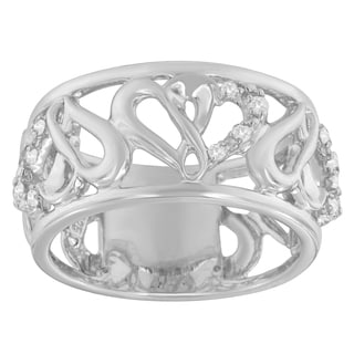 Sterling Silver Round-cut Diamond Accent Ring (H-I, I1-I2)
