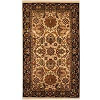 Handmade Herat Oriental Indo Mahal Wool Rug  - 3' x 5' (India)