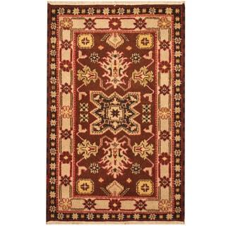 Herat Oriental Indo Hand-knotted Kazak Wool Rug (3'3 x 5')