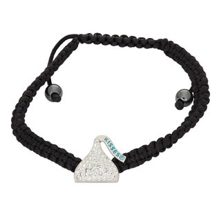Hershey's Kisses Women's Swarovski Element Crystal Sterling Silver Bracelet