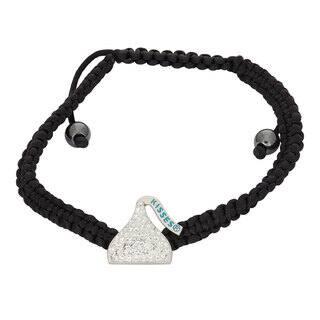 Hershey's Kisses Women's Swarovski Element Crystal Sterling Silver Bracelet|https://ak1.ostkcdn.com/images/products/13444358/P20135000.jpg?impolicy=medium