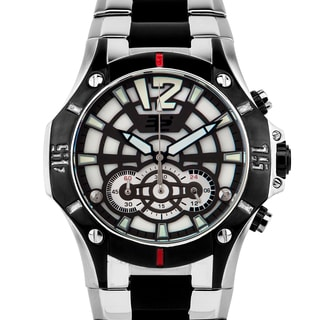 32 Degrees Frostbite, men's chronograph sport watch with mother of pearl multi-level dial