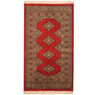 Herat Oriental Pakistani Hand-knotted Bokhara Wool Rug (2'7 x 4'6)