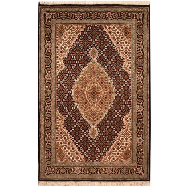 Indo Persian Tabriz Wool Area Rug: Shop Handmade Herat Oriental Indo Tribal Tabriz Wool