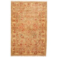 Herat Oriental Afghan Hand-knotted Oushak Wool Rug (3'1 x 4'6)