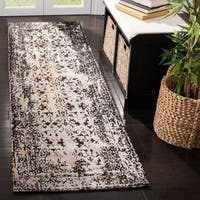 Safavieh Classic Vintage Black/ Silver Cotton Distressed Runner (2' 3 x 8')