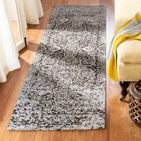 Safavieh Classic Vintage Silver/ Brown Cotton Distressed Runner (2' 3 x 8')