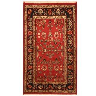 Herat Oriental Indo Hand-knotted Sarouk Wool Rug (3'2 x 5'4)