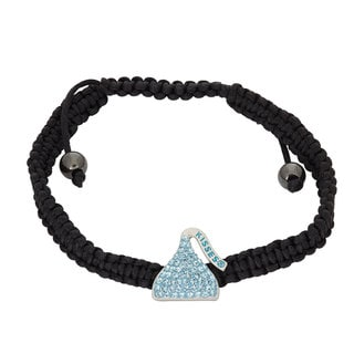Hershey's Kisses Sterling Silver Swarovski Crystal Women's Hershey Kiss Bracelet