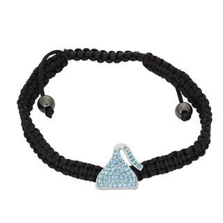 Hershey's Kisses Sterling Silver Swarovski Element Crystal Women's Hershey Kiss Bracelet