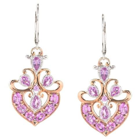 Michael Valitutti Multi Shape Pink Sapphire Dangle Earrings