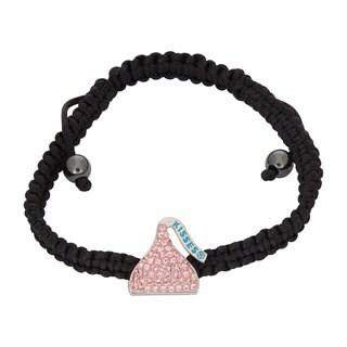 Hershey's Kisses Women's Sterling Silver Swarovski Element Crystal Hershey Kiss Bracelet