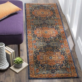 Safavieh Evoke Vintage Medallion Blue/ Orange Distressed Runner (2' 2 x 9')