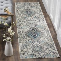 "Safavieh Madison Paisley Boho Glam Cream/ Light Grey Rug - 2'3"" x 6' Runner"