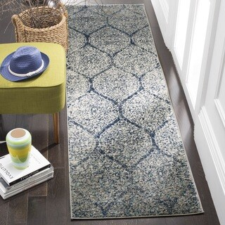 Safavieh Madison Vintage Navy/ Silver Distressed Runner (2' 3 x 8')