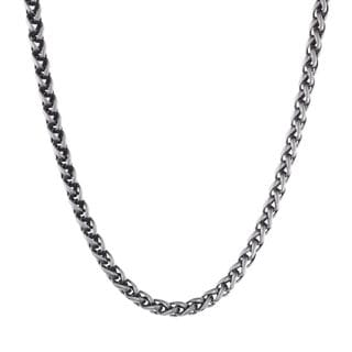 Stainless Steel Men's Wheat Chain Necklace, 24""