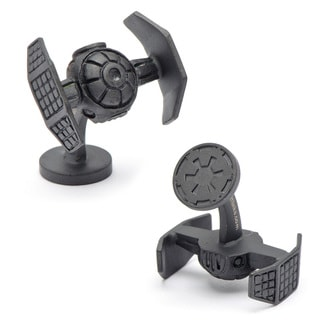 Cufflinks Inc. Matte Black Darth Vader Tie Starfighter Cufflinks