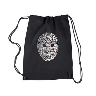 LA Pop Art Slasher Movie Villians Black Cotton Drawstring Backpack