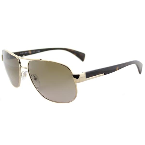 4ddd97dba7c9 Prada PR 52PS ZVN1X1 Pale Gold Metal Aviator Green Gradient Lens Sunglasses