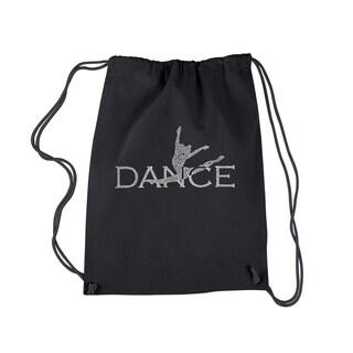 Los Angeles Dance Black Cotton Pop Art Drawstring Backpack