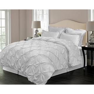 Floral Pintuck Down Alternative 3-piece Comforter Set