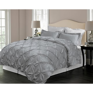 Floral Pintuck Down Alternative 3-piece Comforter Set