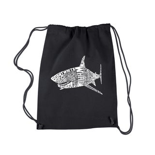LA Pop Art Species of Shark Drawstring Backpack