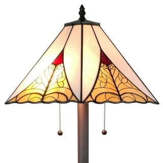 "Amora Lighting AM259FL18 Tiffany Style Mission Floor Lamp 63 ""High"