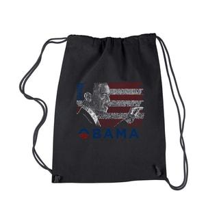 Los Angeles Pop Art Barack Obama Drawstring Backpack