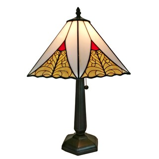 Amora Lighting AM258TL14 Tiffany Style Mission Table Lamp 20 In High