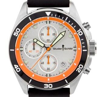 Studer Schild Morse Men's Chornograph Sport Watch, Silicone Strap (Option: Orange)