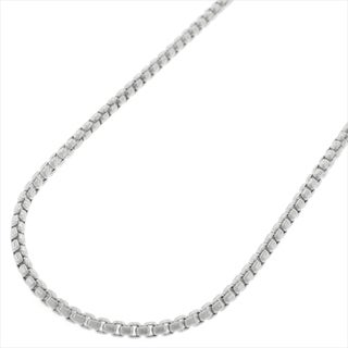"Sterling Silver Italian 2mm Round Box Link Solid 925 Rhodium Necklace Chain 16"" - 24"""