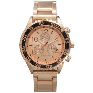 Olivia Pratt Stainless Steel Elegant 3-dial Bracelet Boyfriend Watch