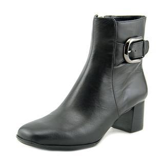 Nine West Women's Poppyo Black Leather Boots