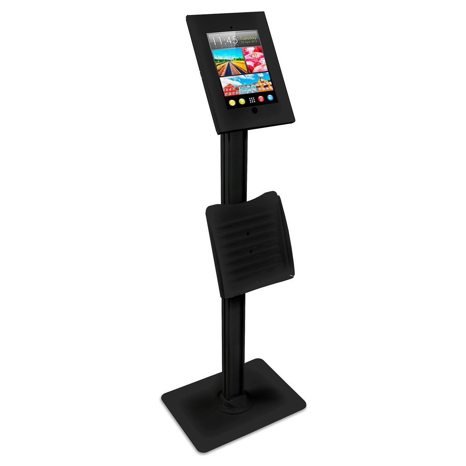 Mount-It! Public Kiosk - Lockable Catalogue Holder and Ta...