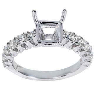 14K White Gold .98ct TDW Round Diamond Engagement Setting (Center Stone Note Included)|https://ak1.ostkcdn.com/images/products/13445313/P20135826.jpg?impolicy=medium