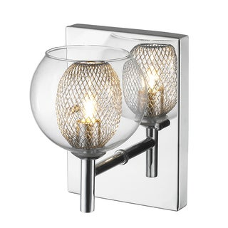 Z-Lite 1 Light Wall Sconce Mirror Stainless Steel Finish