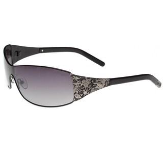 Ed Hardy EHT-908 Men's Black Metal and Plastic Sunglasses