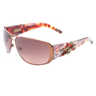 Ed Hardy Unisex Gunmetal Grey Metal and Plastic Sunglasses