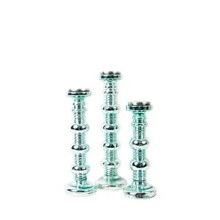 Privilege Sea Foam Glass Candleholders (Pack of 3)
