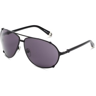 True Religion Unisex Tony Black Metal and Plastic 63-millimeter Aviator Sunglasses